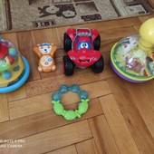 ♥️Фирменные игрушки одним лотом,две юлы,большая машинка Чико,муз.мишка и грызун♥️