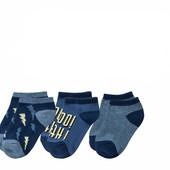 3 пары! Набор хлопковые носочки Lupilu Германия размер: 19/22 (на 1-3 года)