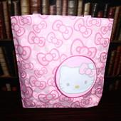 Большая розовая сумочка для юной модницы Hello Kitty, шоппер, сумка для прогулок, дорожная