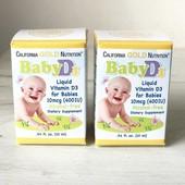Дитячий вітамін Д3 400 МО california gold nutrition