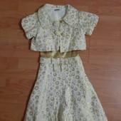Нарядное платье с болеро из парчи