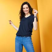 ☘ Практична футболка c V-подібним вирізом від Tchibo (Німеччина), розмір наш: 46-48 (40/42 євро),