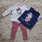 Супер лот для девочки - костюм, футболка и три боди.
