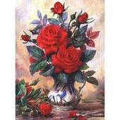 """Алмазная вышивка """"Розы"""". Полная выкладка"""