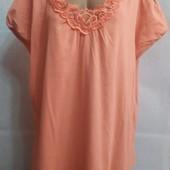 Яркая женская футболка туника большого размера