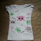 Лот. Две моднявые футболки 42р.