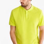 Качественная хлопковая футболка-поло C&A, р.xs,s,l, салатовая