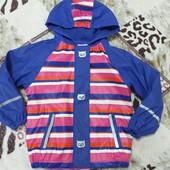 Курточка дождевик на флисе 4-6лет замеры на фото