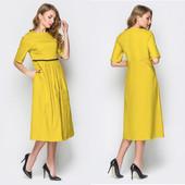 Шикарная новинка! Красивое платье, размер 48/52 наш (универсальный), есть замеры