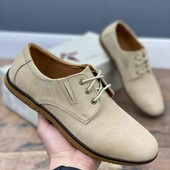 """Демисезонные мужские туфли,бежевые """" Т.Taccardi"""""""