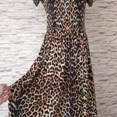 Трикотажне плаття,тигровий принт.Розмір L.