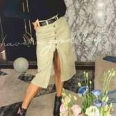 ♥️Трендовая вельветовая юбка с разрезом и пуговицами спереди♥️Турция