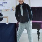 Lupilu стильная рубашка с галстуком р.92