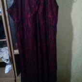 Платье с кружевом большой размер 56-60
