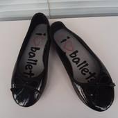 !!!Фирменные лаковые балетки 13 размер