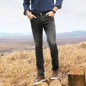 Стильные серые джинсы slim fit от livergy р.50