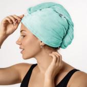 Махровое полотенце-тюрбан для сушки волос от miomare (мятный), германия