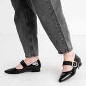 Супер акция !!! Лаковые туфли -балетки. смотрите размер по стельке они маломерят.