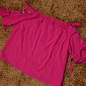 Блуза малина шнуровка рукав 52-54 видеале