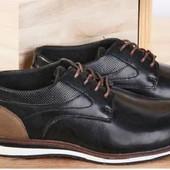 мужские элегантные кожаные туфли от Tom&Rose. Intertek