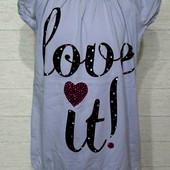 """❤ Качеств.бренд.футболка для дев.р.140""""Walenti"""".Хлопок.супер!ставьте блиц!❤"""