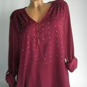 Распродажа!!! Легкая блузка с камешками