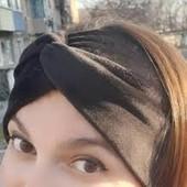 Стильна пов'язочка на голову( доросла або дитяча) колір темний шоколад
