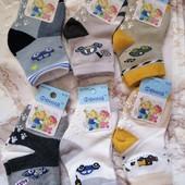 Носочки для мальчиков на 6/12 месяцев. В лоте 3шт