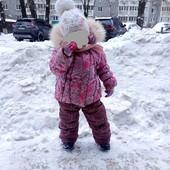 Зимовий костюм-трійка на дівчинку розмір 98