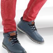 мужские стильные кожаные ботинки от Tom&Rose. Intertek