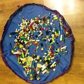 Игровой сумка-коврик для деталей лего и мелких игрушек.
