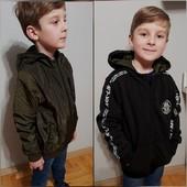 Сонце- дощ! Двохсторонні вітровки для хлопчиків: плащовка+трикотаж , фліс. Якість супер. 2 в 1
