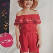 Яскравий літній комбезік на дівчинку, бренд lupilu, розміри 92