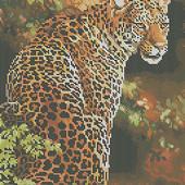 "Велика гарна схема для вишивки ""Леопард "" формат А 3"