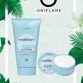 Набор Essentials Oriflame: увлажняющий крем для лица, очищающее средство для лица 3 в 1 ,