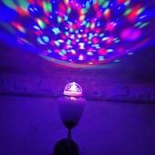Светильник.Светодиодный ,вращающийся  лампа,- диско шар.