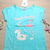 Польша!!! Суперовая футболка для девочки! 134 рост! 429 грн по ценнику! Цвет светлее!