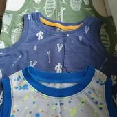 Три летним майки на мальчика 1-2 г. Состояние отличное. Импортные