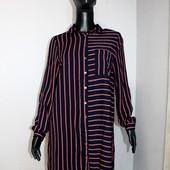 Качество! Стильное натуральное платье-рубашка удлиненая спинка, от бренда Kiah в новом состоянии