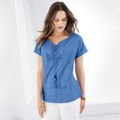 Очаровательная блуза с кружевом из био- хлопка от Tchibo (германия) размер 36 евро=42-44