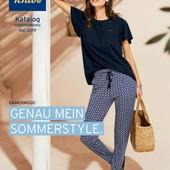 Комфортные брюки из джерси с принтом из вискозы от Tchibo (германия) размер 40 евро=46-48