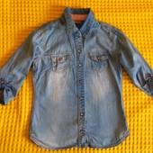 Лёгкая джинсовая рубашка, на рост 134-140см