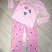 Пижама хлопок на девочку 8-9лет замеры на фото и