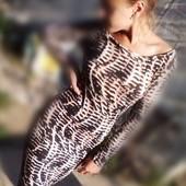 Летнее трикотажное платье 38р.