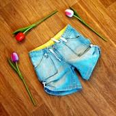 Стоп!Шикарные стильные джинсовые шорты на девочку 10-12 л.