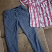 Фирменные 3 летние вещи одним лотом, моего сына, в отличном сост рост 128-134