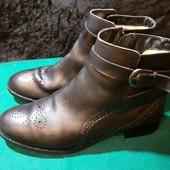 Натуральная кожа деми ботинки