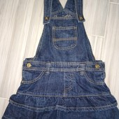 Джинсмовый комбинезон юбочка на девочку 5-6лет замеры на фото