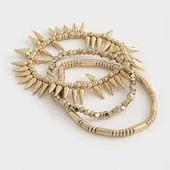 Набор браслетов 3 шт!!! с покрытием золотистого цвета в стиле «бохо»!!! Красота!!