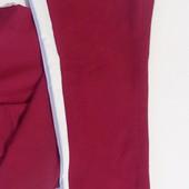 Штани спортивні жіночі з двонитки з лампасами вишневий колір50